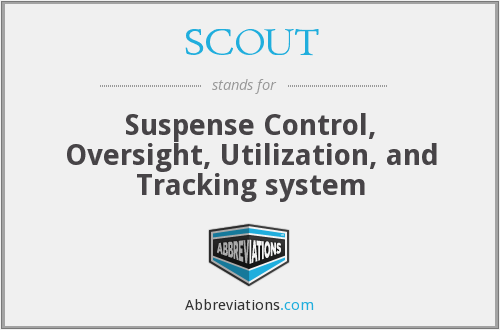 SCOUT - Suspense Control, Oversight, Utilization, and Tracking system