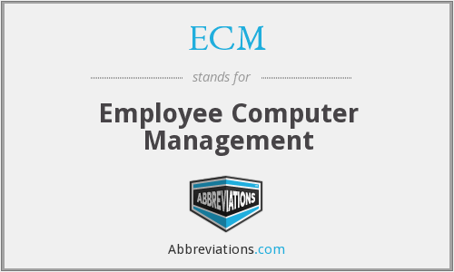 ECM - Employee Computer Management