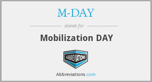 M-DAY - (day Full Mobilization Is Declared)
