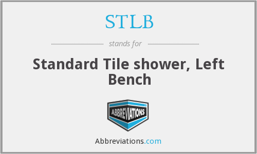STLB - Standard Tile shower, Left Bench