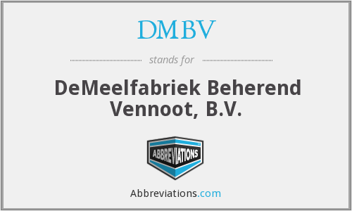 What does DMBV stand for?