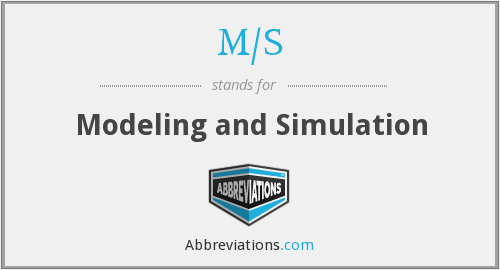 What does M/S stand for?