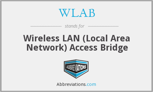 WLAB - Wireless LAN (Local Area Network) Access Bridge