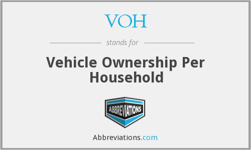VOH - Vehicle Ownership Per Household
