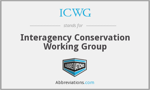 ICWG - Interagency Conservation Working Group