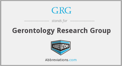 GRG - Gerontology Research Group