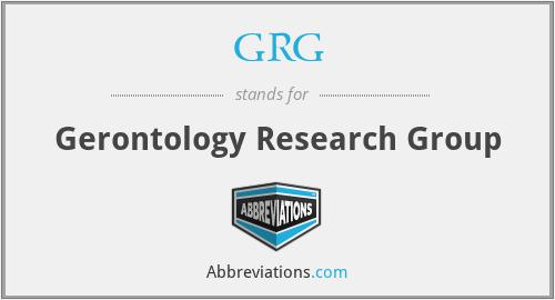 GRG - Gerontology Research Group