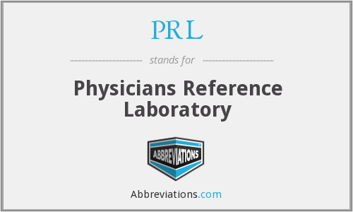PRL - Physicians Reference Laboratory
