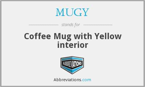 MUGY - Coffee Mug with Yellow interior