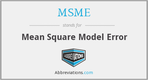 What does MSME stand for?