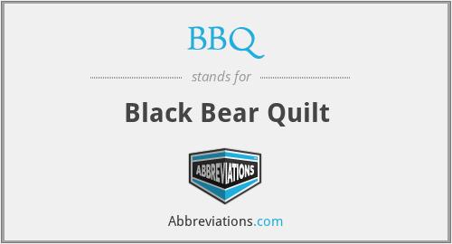 BBQ - Black Bear Quilt