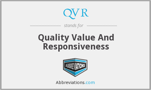QVR - Quality Value And Responsiveness