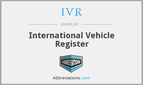 IVR - International Vehicle Register