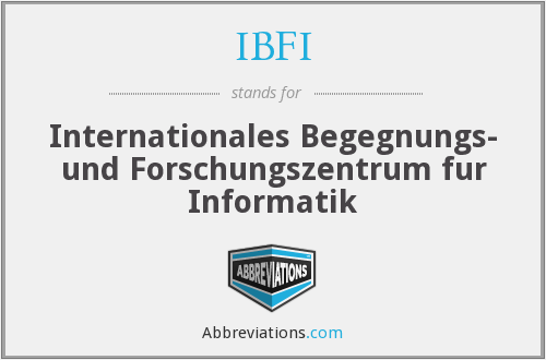 What does IBFI stand for?