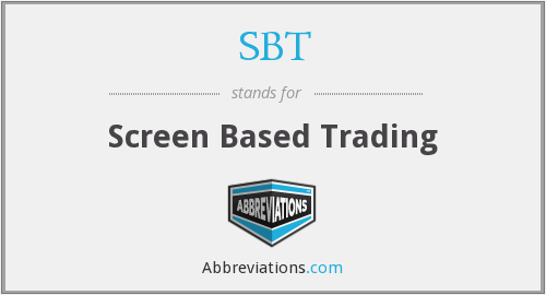 SBT - Screen Based Trading