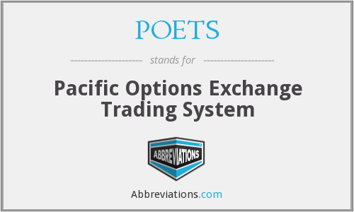 POETS - Pacific Options Exchange Trading System