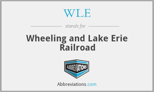 WLE - Wheeling and Lake Erie Railroad