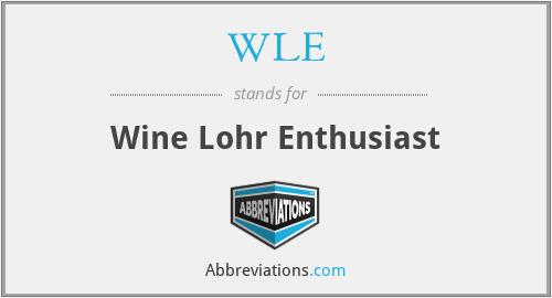WLE - Wine Lohr Enthusiast