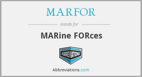 What does MARFOR stand for?