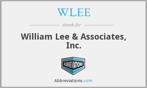 WLEE - William Lee & Associates, Inc.