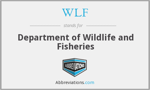 WLF - Department of Wildlife and Fisheries