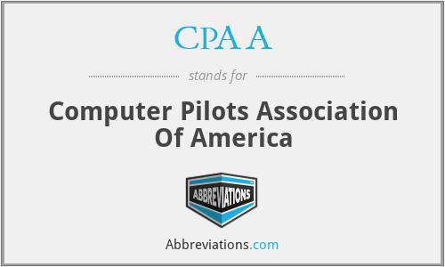 CPAA - Computer Pilots Association Of America