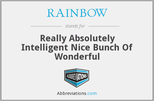 What does RAINBOW stand for?
