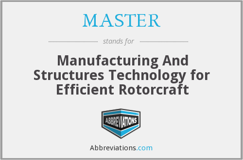 MASTER - Manufacturing and Structures Technology for Efficient Rotorcraft