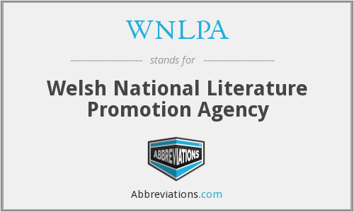 WNLPA - Welsh National Literature Promotion Agency