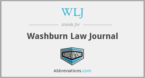 WLJ - Washburn Law Journal