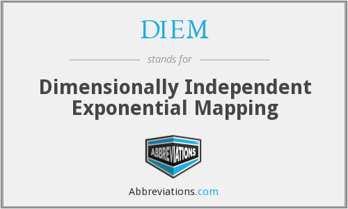 DIEM - Dimensionally Independent Exponential Mapping