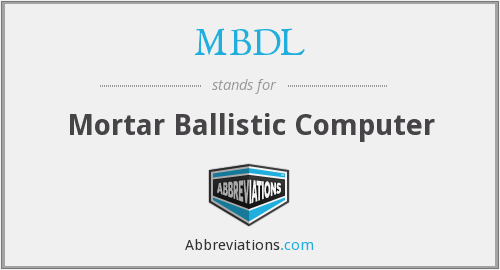 What does MBDL stand for?