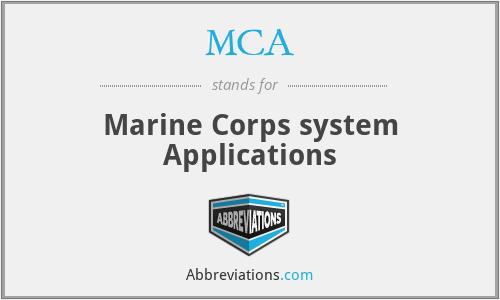 MCA - MCS Applications