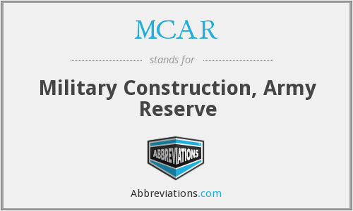 MCAR - Military Construction, Army Reserve
