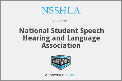NSSHLA - National Student Speech Hearing and Language Association