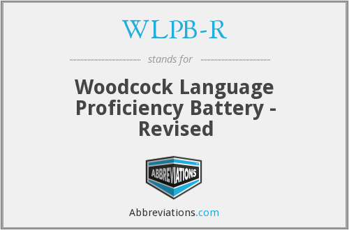 What does WLPB-R stand for?