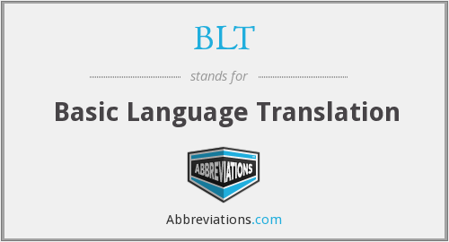 BLT - Basic Language Translation
