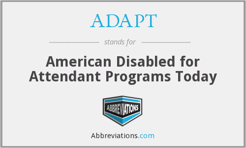 What does ADAPT stand for?