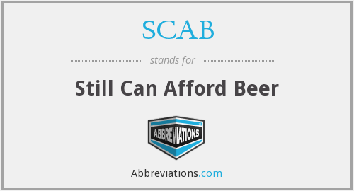 What does SCAB stand for?