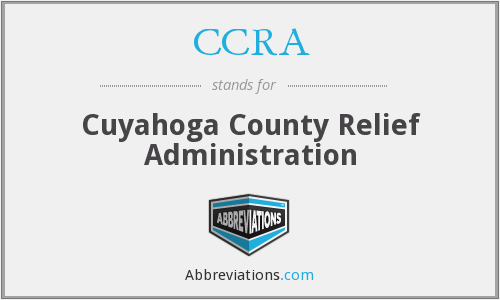 CCRA - Cuyahoga County Relief Administration