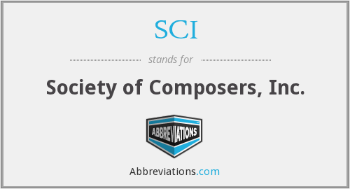 SCI - Society of Composers, Inc.