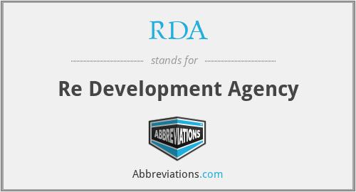 RDA - Re Development Agency