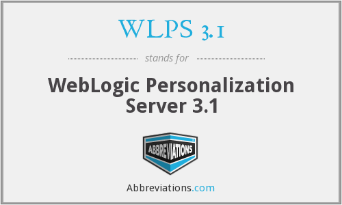 What does WLPS 3.1 stand for?
