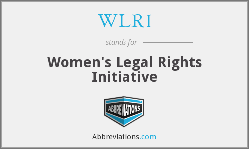 WLRI - Women's Legal Rights Initiative