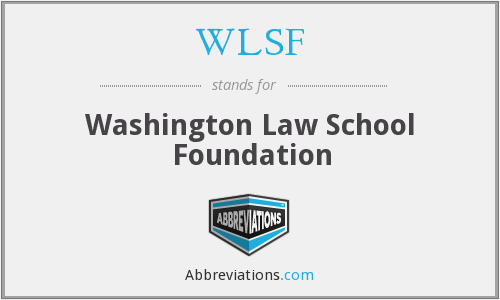 WLSF - Washington Law School Foundation
