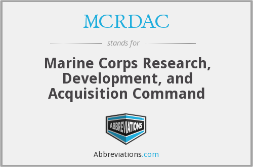What does MCRDAC stand for?