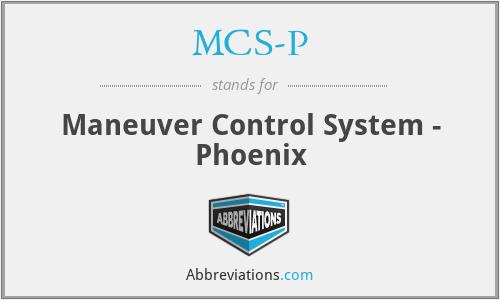 MCS-P - Maneuver Control System - Phoenix