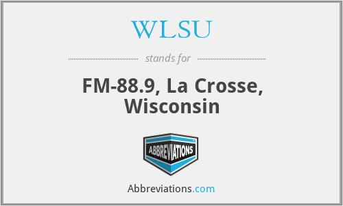 WLSU - FM-88.9, La Crosse, Wisconsin