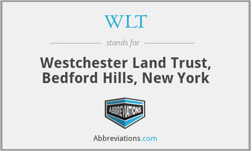 WLT - Westchester Land Trust, Bedford Hills, New York