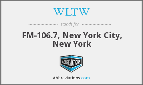WLTW - FM-106.7, New York City, New York